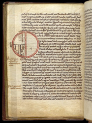 William of Conches, 'Tract on Philosophy and Man', in an Astronomical Miscellany f.129v